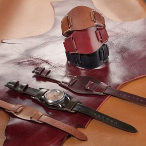 handmade leather bund straps